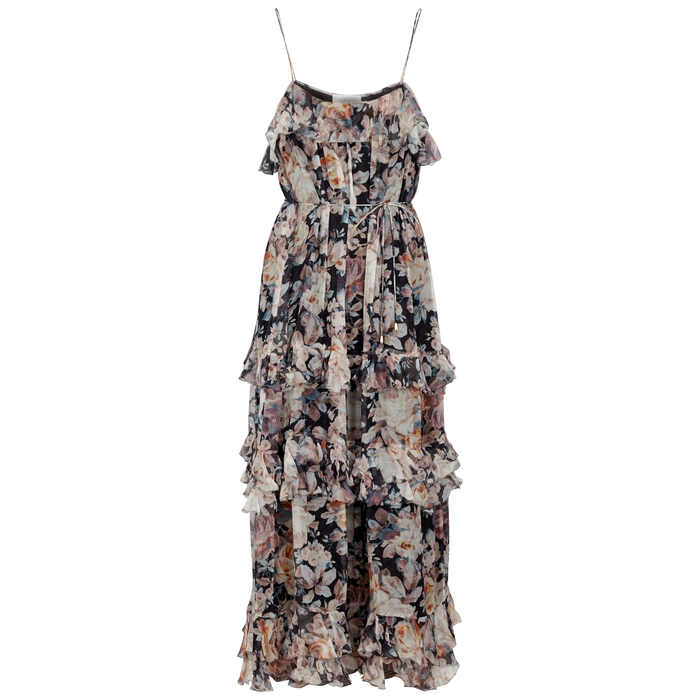 5189c9f81f42d8 ZIMMERMANN Tempest Frolic Silk Chiffon Dress - Female First Shopping