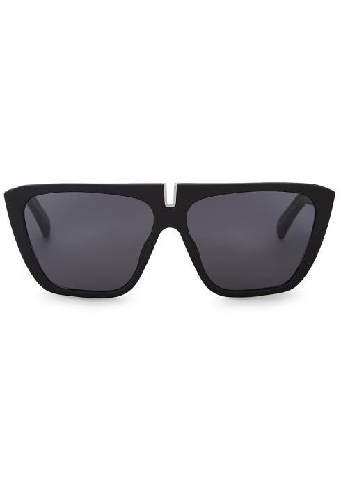 22caaef83a967 Givenchy Black cat-eye sunglasses - Harvey Nichols