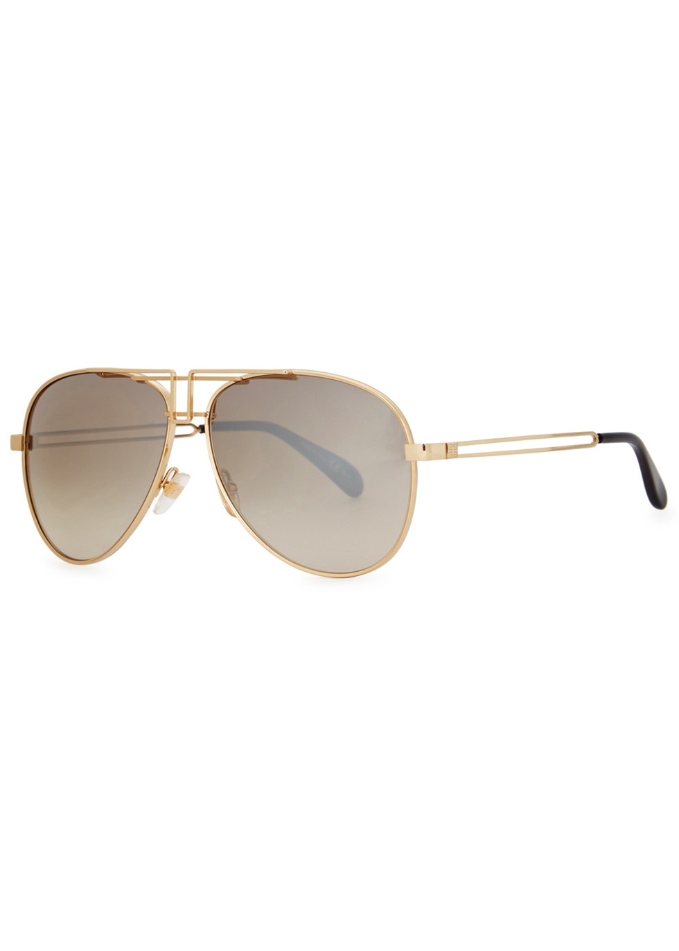 Gv 7110 Gold-Tone Aviator-Style Sunglasses