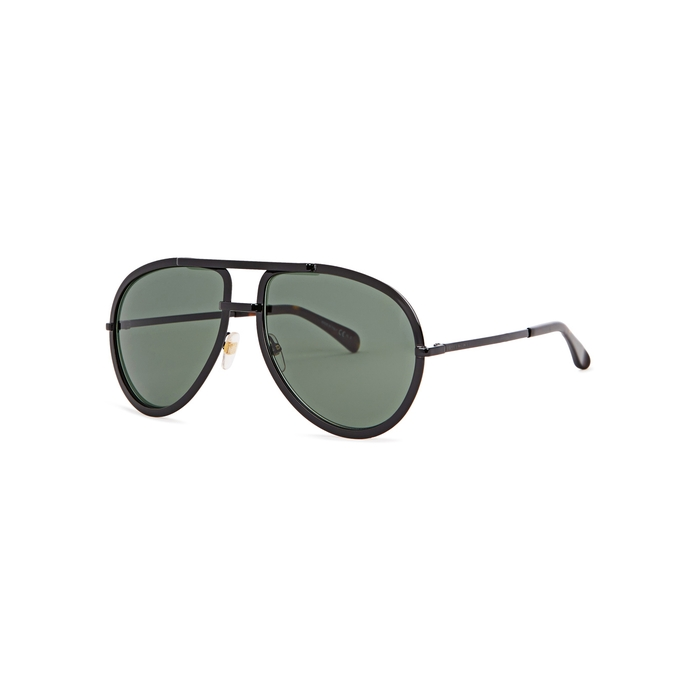 Givenchy Black Aviator-style Sunglasses