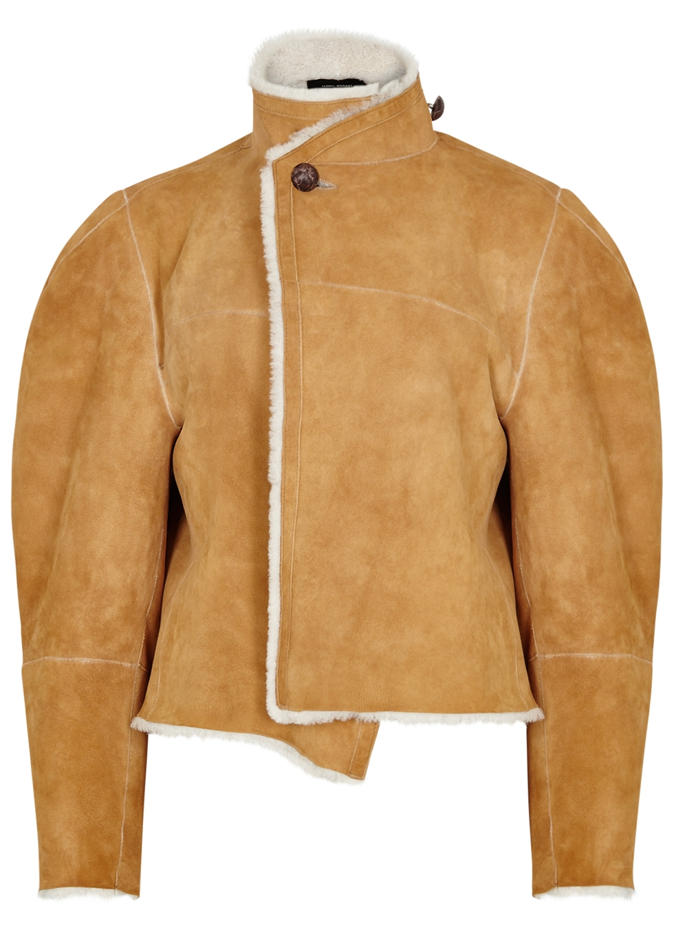 Acacia Reversible Shearling And Suede Jacket, Camel