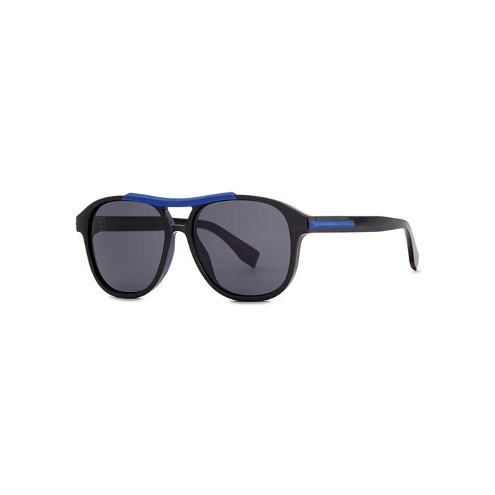 97d5853f430 Fendi Black Aviator-Style Sunglasses