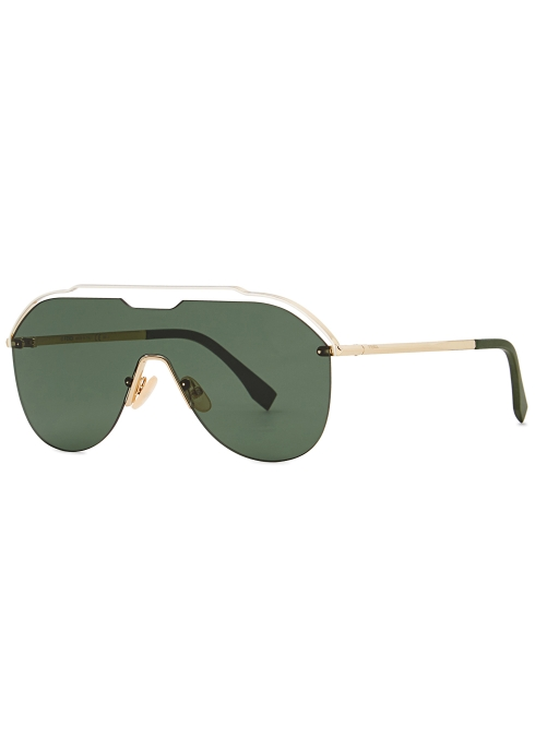 01ec7a0fdc Fendi Gold-tone cut-out sunglasses - Harvey Nichols