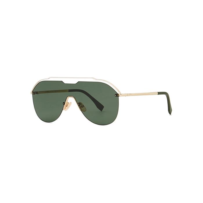 Fendi Gold-tone Cut-out Sunglasses