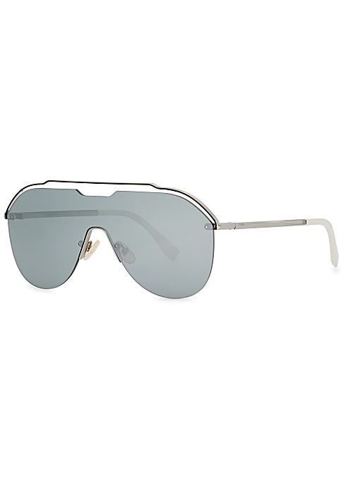e7a4155c6bb3 Fendi Silver-tone cut-out sunglasses - Harvey Nichols