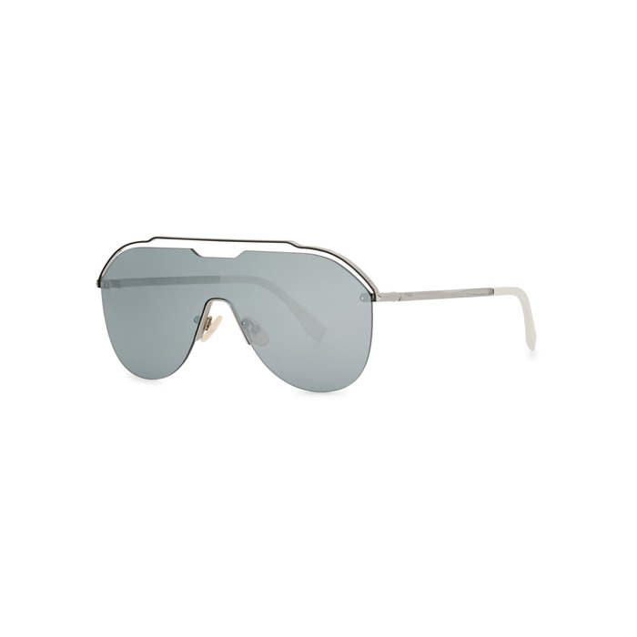 Fendi Silver-tone Cut-out Sunglasses