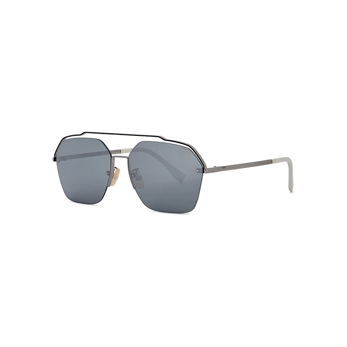 Fendi Mirrored Aviator-style Sunglasses