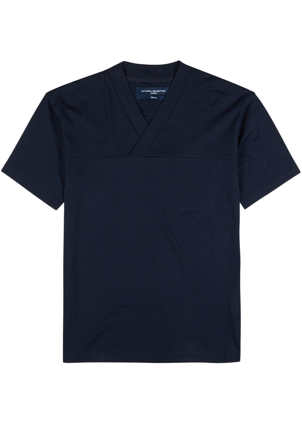 NATURAL SELECTION Veejay Navy Supima Cotton T-Shirt in Blue