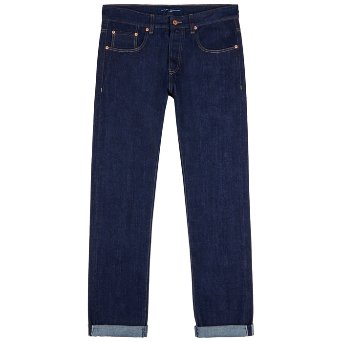 Natural Selection Indigo Selvedge Slim-leg Jeans