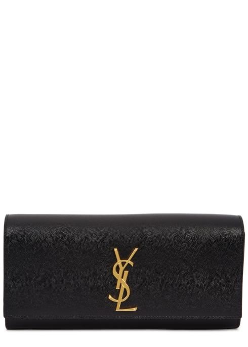 89e21a4fbc02 Saint Laurent Kate black leather clutch - Harvey Nichols