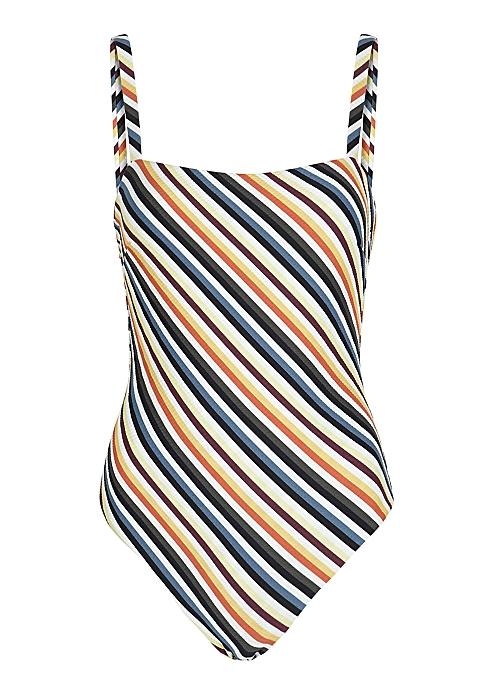 4e80461833f05 ASCENO Striped swimsuit - Harvey Nichols