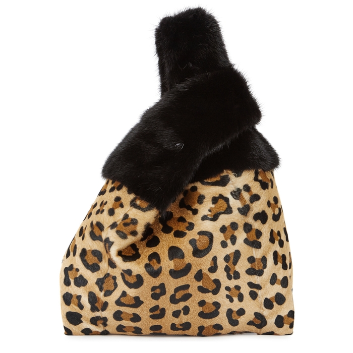 606a2c627b20 Simonetta Ravizza Furrissima Leopard-Print Mink Fur Tote In Black ...