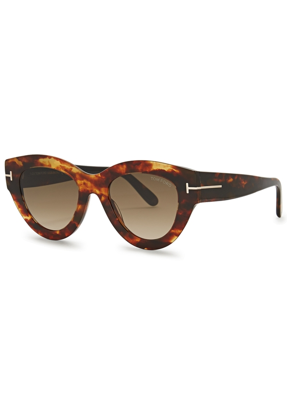 d22f8d0c65 Slater tortoiseshell cat-eye sunglasses. Tom Ford