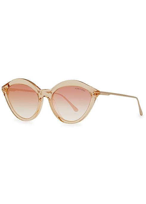 c47cb3e92 Tom Ford Chloe light brown cat-eye sunglasses - Harvey Nichols