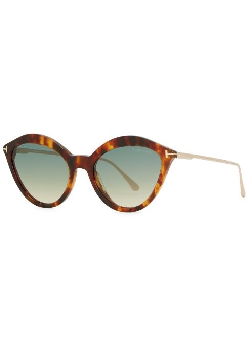 67e065798f Tom Ford Chloe tortoiseshell cat-eye sunglasses - Harvey Nichols