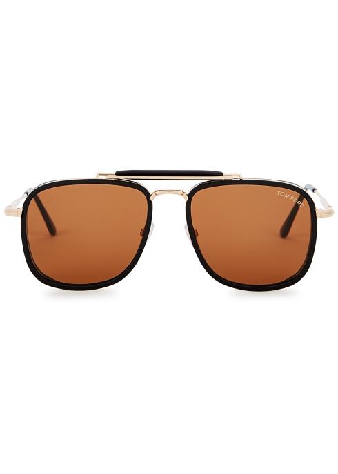 1bde16dfa0 Tom Ford Huck aviator-style sunglasses - Harvey Nichols