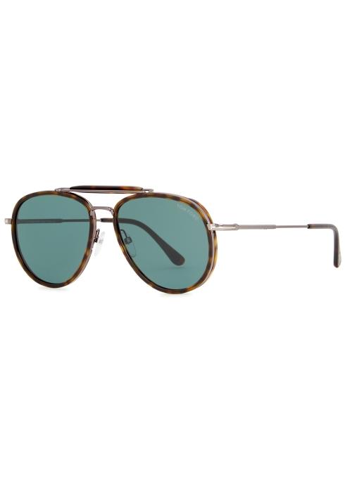 e742fbe1376c Tom Ford Tripp aviator-style sunglasses - Harvey Nichols