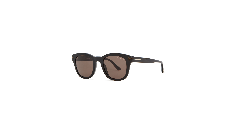 51bbda019341 Tom Ford Black oval-frame sunglasses - Harvey Nichols