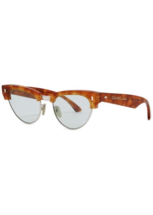 d63ce25e58 Celine Tortoiseshell clubmaster-style sunglasses - Harvey Nichols