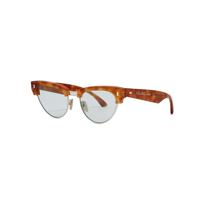 4aeaabff22 Celine Tortoiseshell Clubmaster-style Sunglasses - Female First Shopping