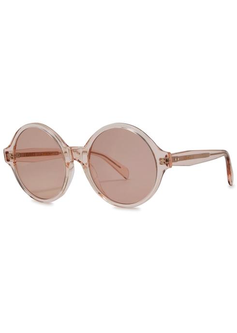8995c7d774 Celine Light pink round-frame sunglasses - Harvey Nichols