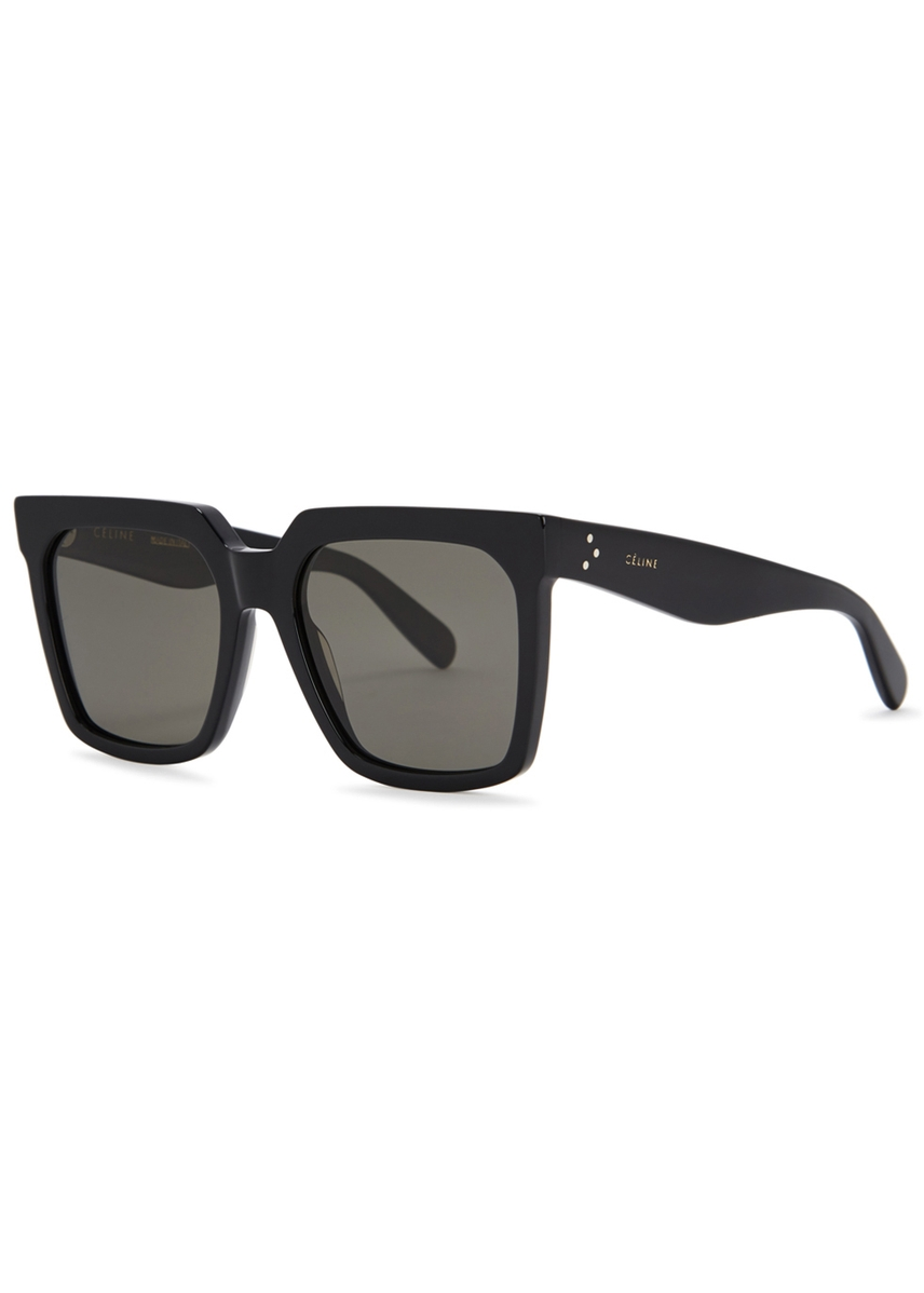 e7894e0cd9ba1 Black wayfarer-style sunglasses. Celine