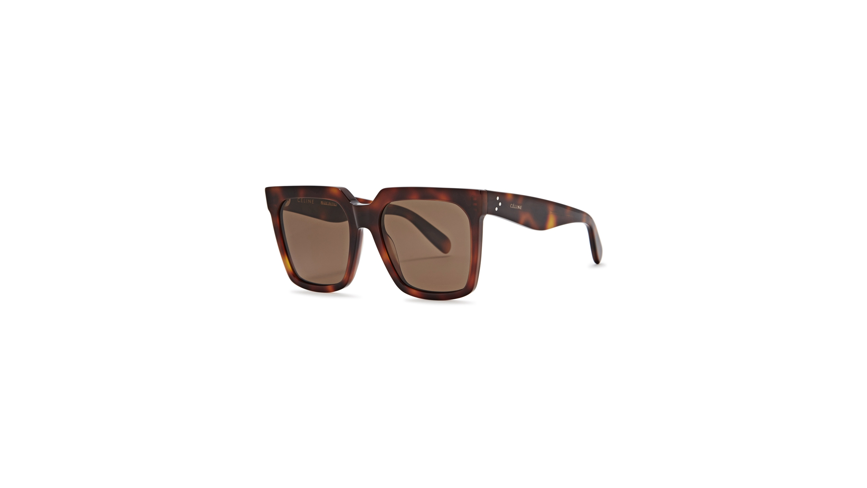 e9b99a9f26 Celine Light Tortoiseshell wayfarer-style sunglasses - Harvey Nichols