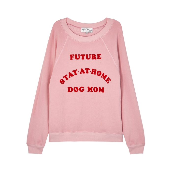 Wildfox DOG MOM SOMMERS COTTON-BLEND SWEATSHIRT