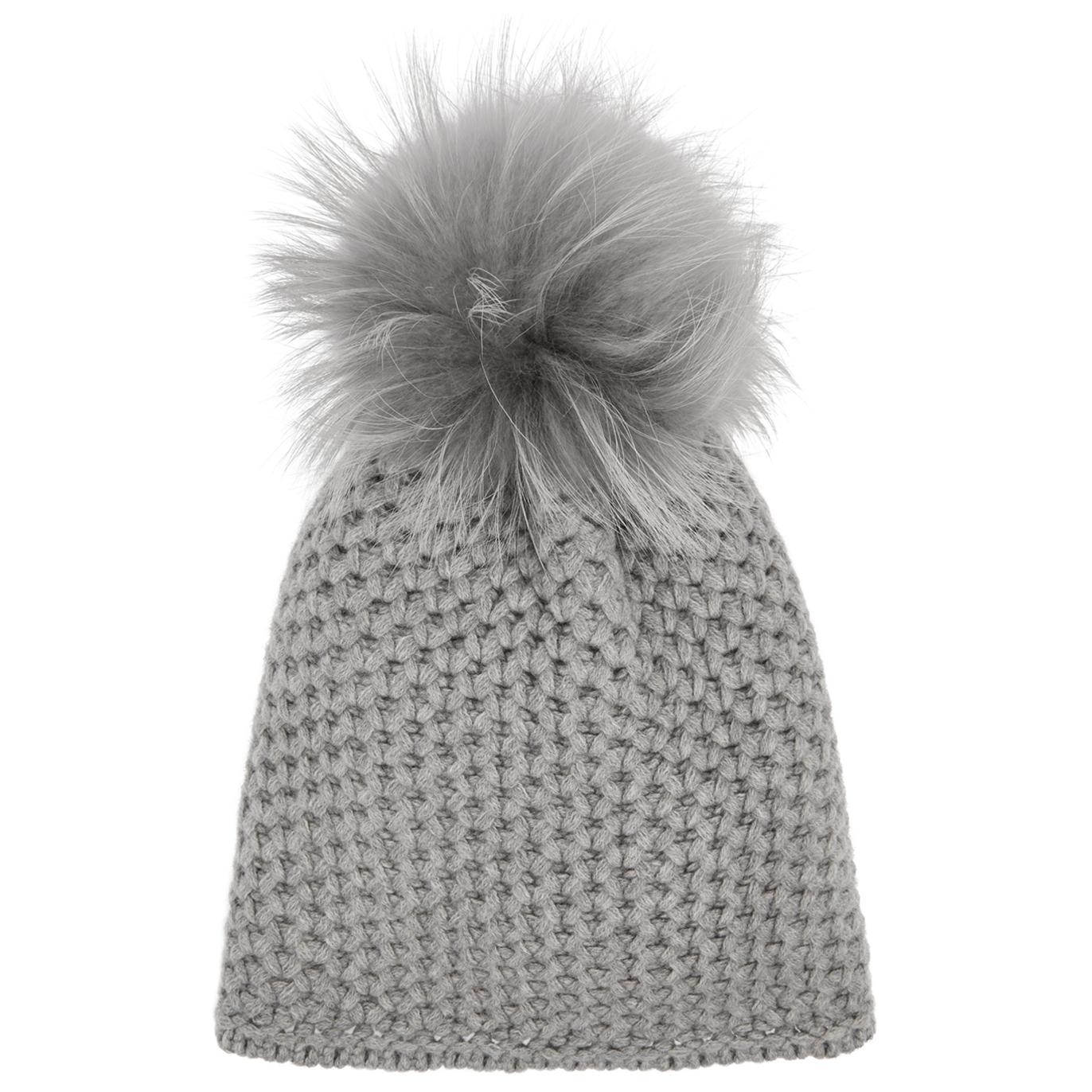 THATSAHAT! Grey pompom chunky-knit beanie - Harvey Nichols f27176201d6