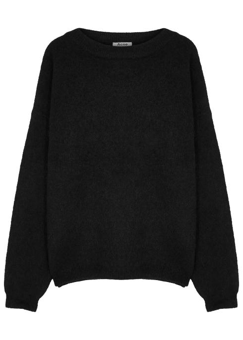 04aa87b4c9363 Acne Studios Dramatic black stretch-knit jumper - Harvey Nichols