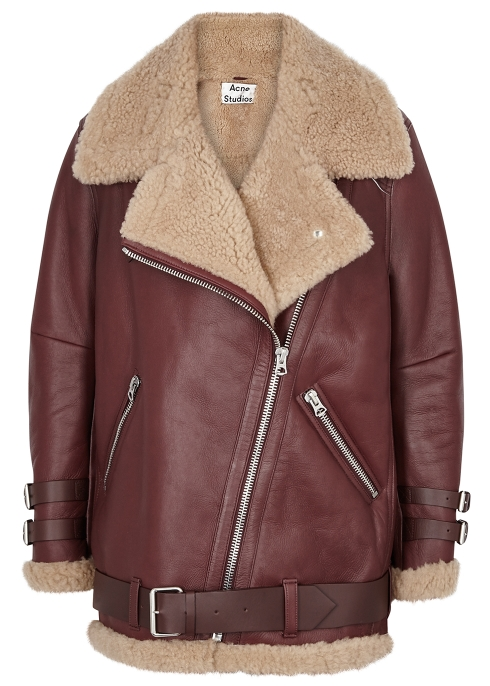 16df763d5f776 Acne Studios Velocite shearling-lined leather jacket - Harvey Nichols