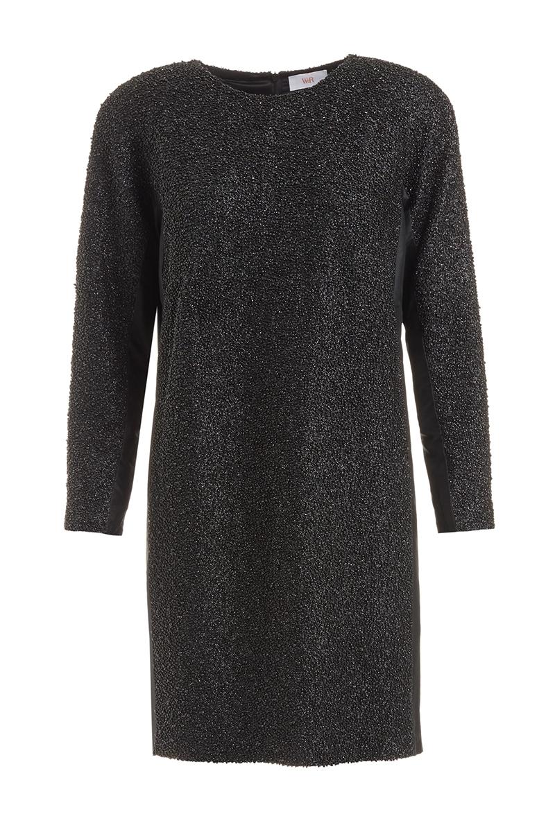 WTR  PAMINA BLACK EMBELLISHED SILK SHIFT DRESS