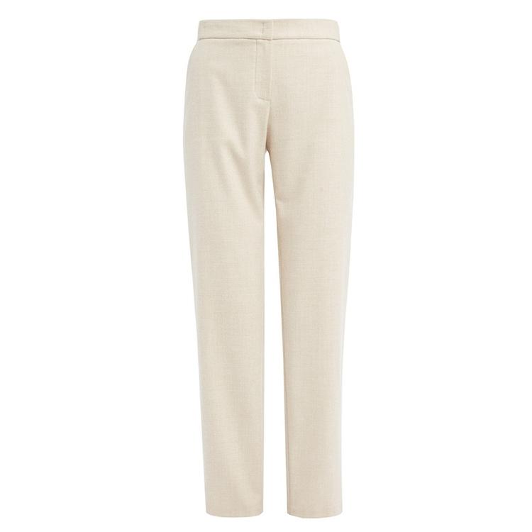 WTR | WtR Dima Cream Elasticated Waist Wool Trousers | Goxip