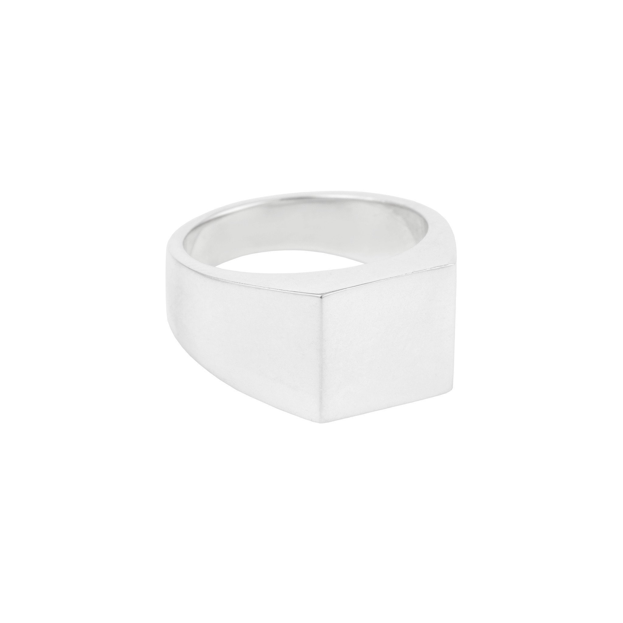 SUSAN CAPLAN CONTEMPORARY STERLING SILVER SQUARE SIGNET RING