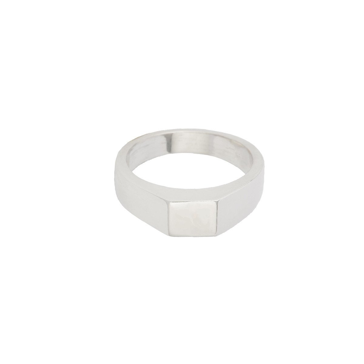 SUSAN CAPLAN CONTEMPORARY STERLING SILVER SMALL SQUARE SIGNET RING
