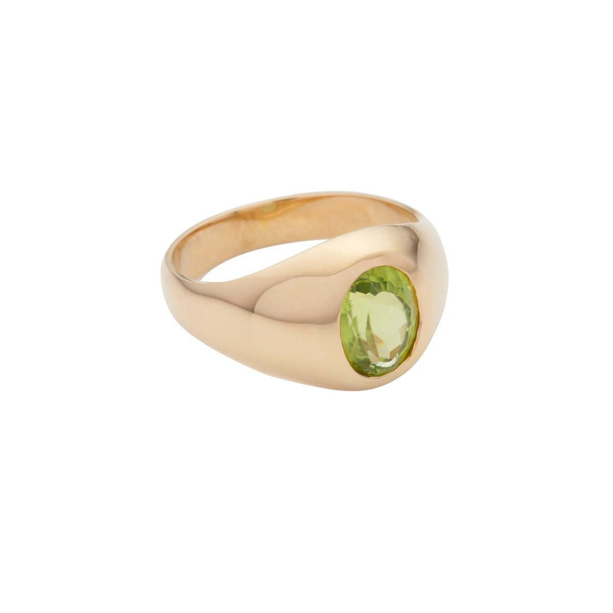 SUSAN CAPLAN CONTEMPORARY 18CT GOLD VERMEIL RING WITH PERIDOT