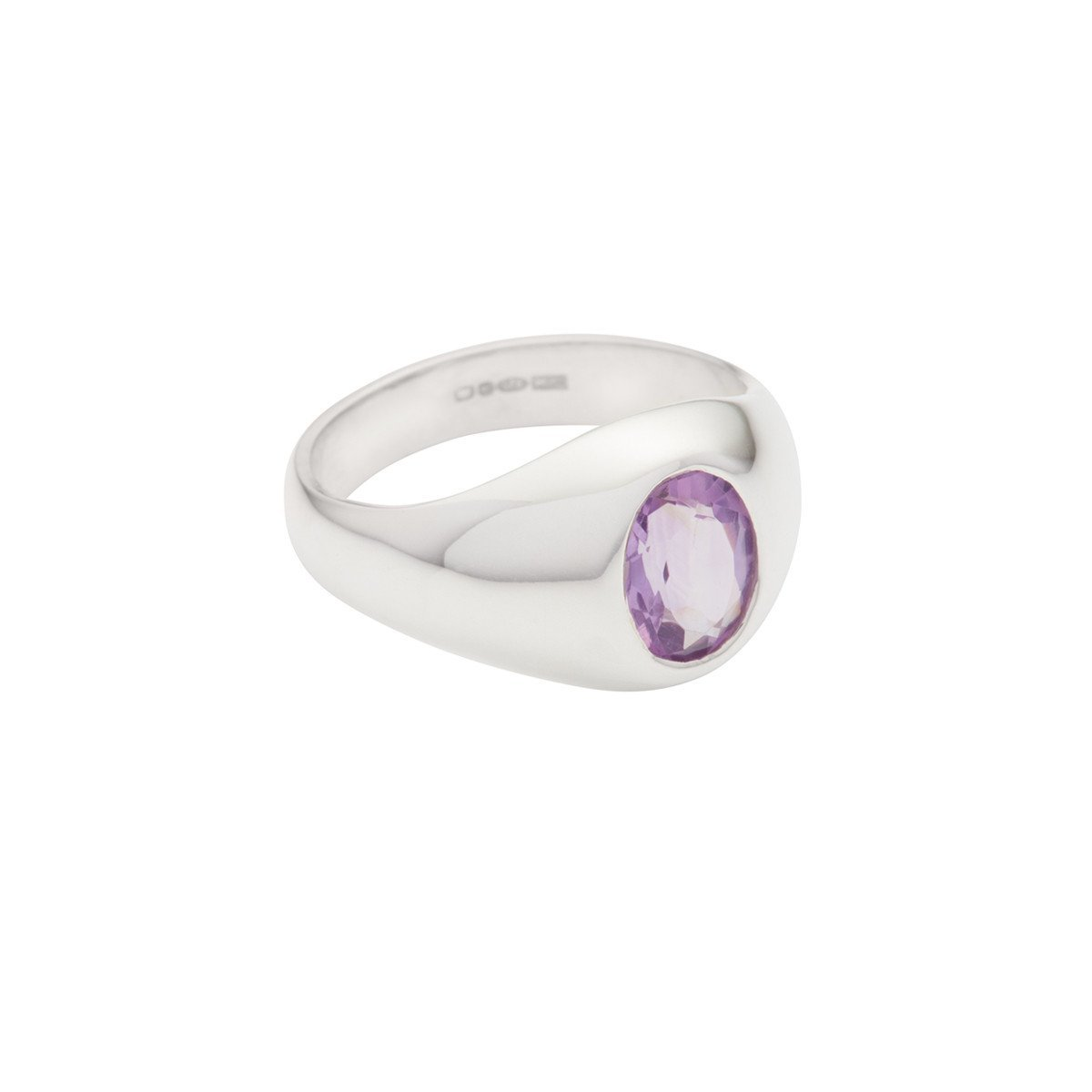 SUSAN CAPLAN CONTEMPORARY STERLING SILVER RING WITH AMETHYST