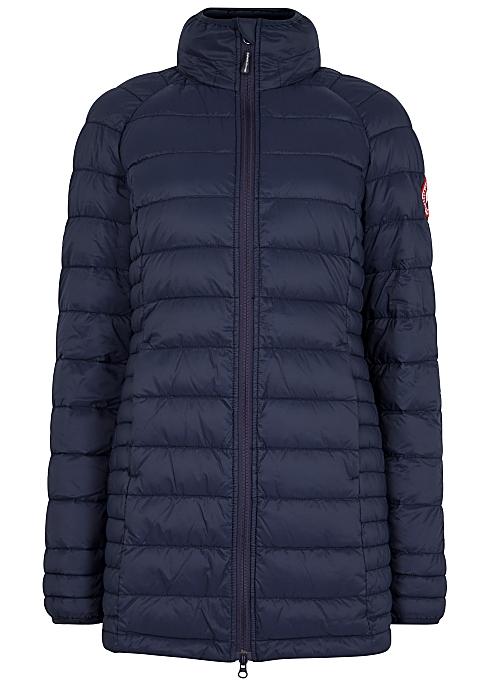 3b4f10570ea Canada Goose Brookvale navy quilted coat - Harvey Nichols