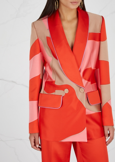 Panelled satin blazer - Peter Pilotto