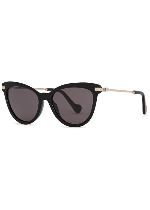f4a4298da1 Moncler ML0080 black cat-eye sunglasses - Harvey Nichols