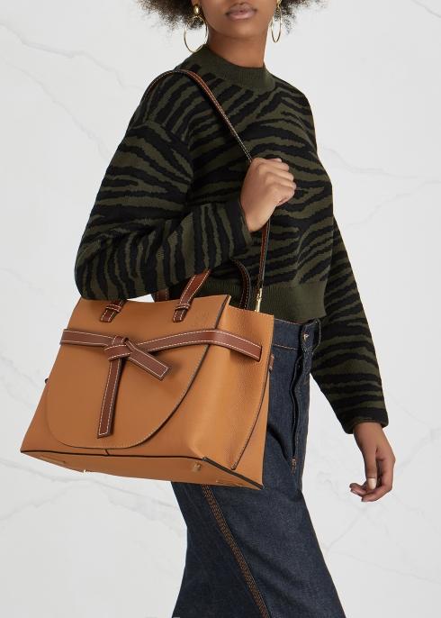 4911ac3856 Loewe Gate brown leather top handle bag - Harvey Nichols