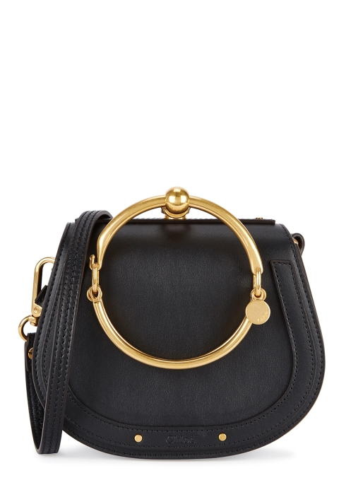 b86cbcb92788 Chloé Nile small black leather cross-body bag - Harvey Nichols