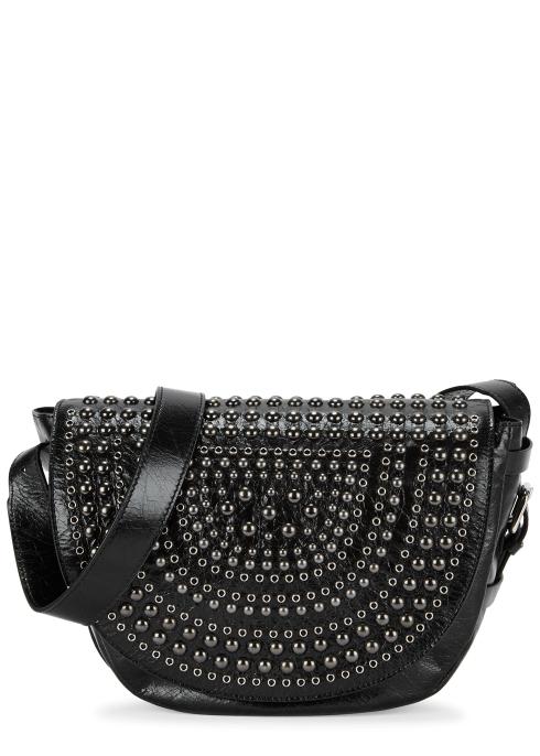73f4e31579cc RedV Studded black leather saddle bag - Harvey Nichols
