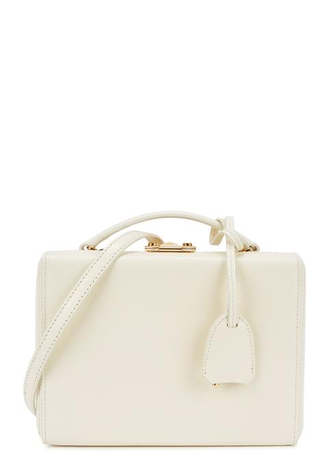 9b9e300050b9 Mark Cross Grace small cream leather box bag - Harvey Nichols
