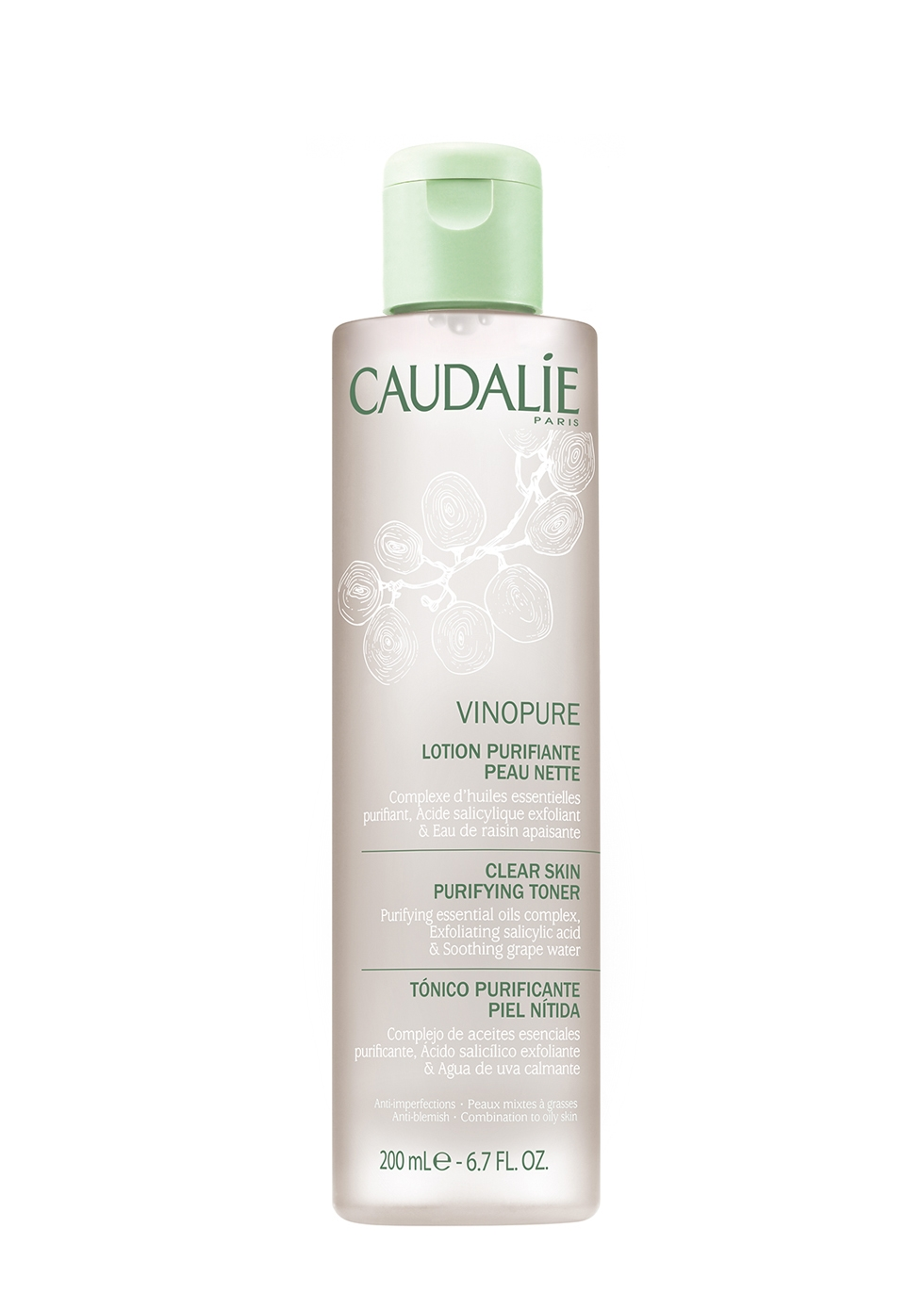 Vinopure Clear Skin Purifying Toner 200ml - CAUDALIE