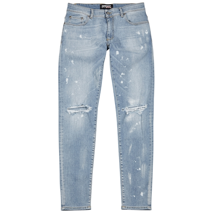 Represent Destroyer Distressed Skinny Jeans