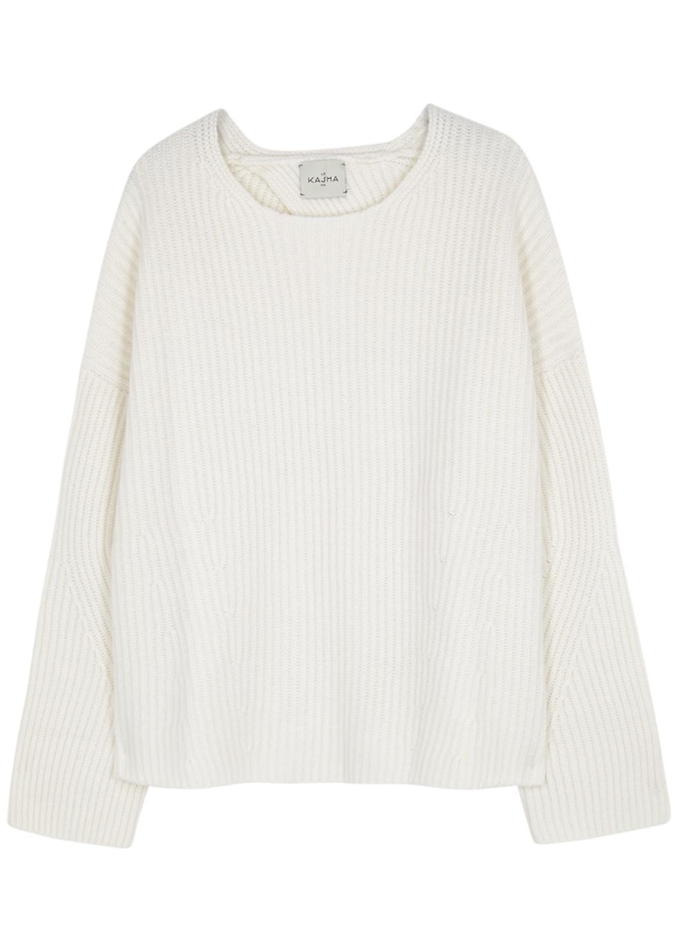 Seoul Open-Back Cashmere Jumper, White