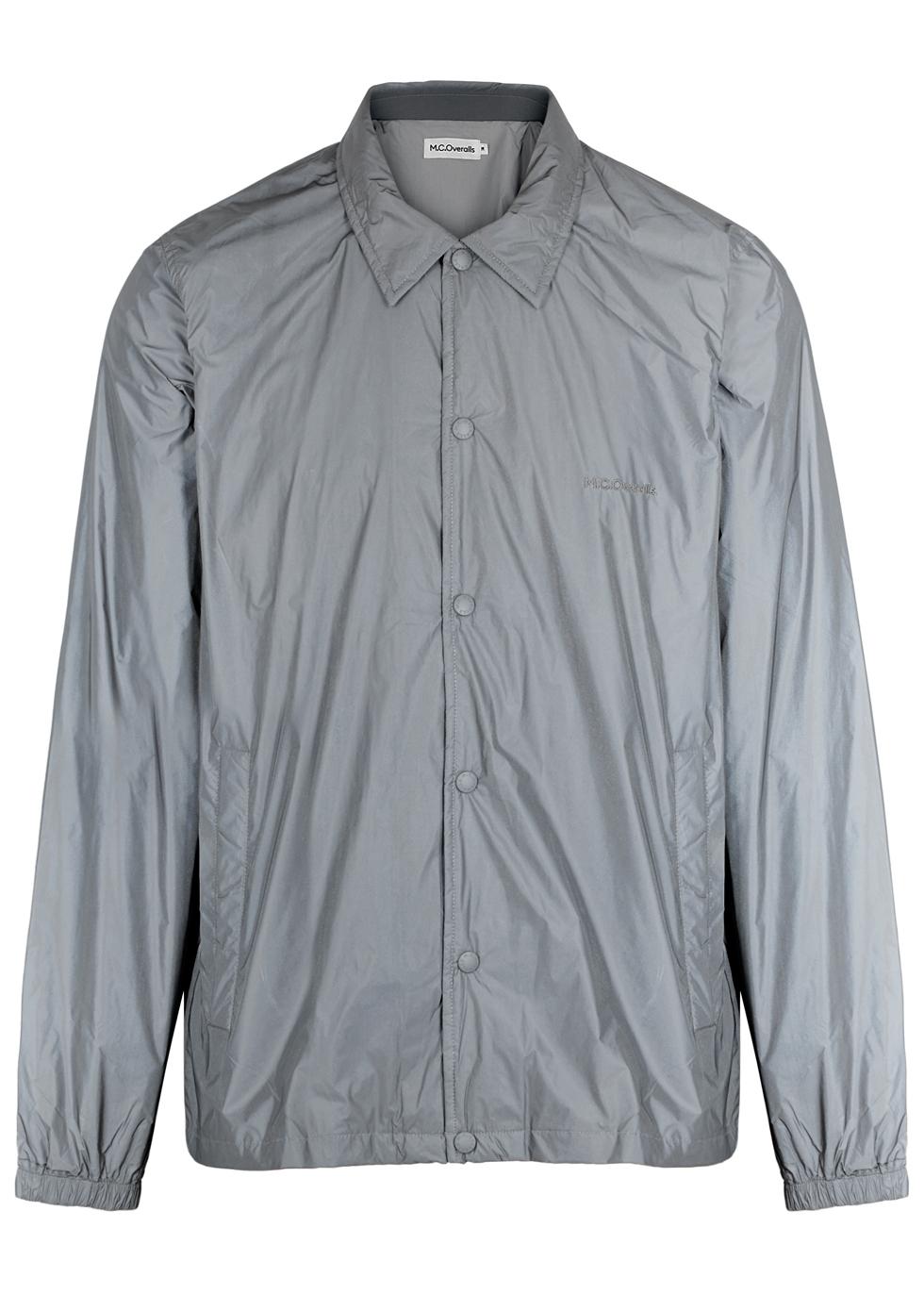 M.C. OVERALLS Grey Reflective Shell Jacket