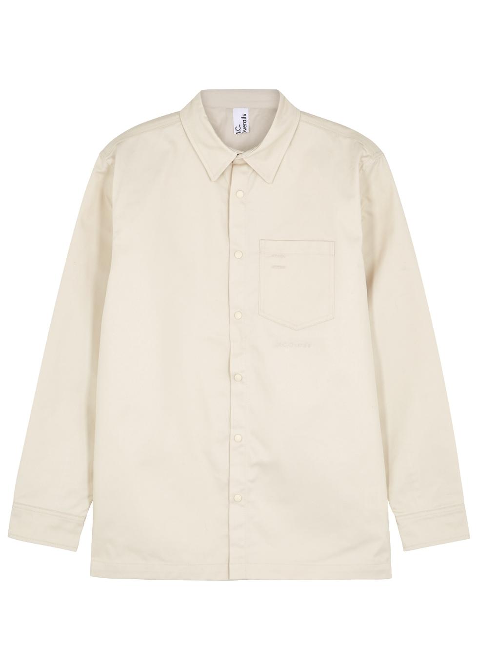 M.C. OVERALLS Sand Twill Shirt in Beige
