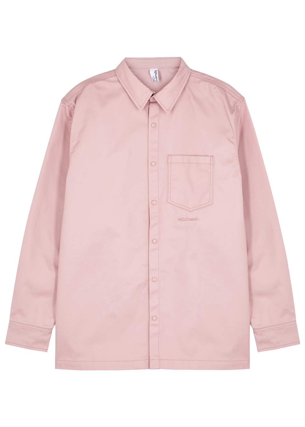 M.C. OVERALLS Dusky Pink Twill Shirt